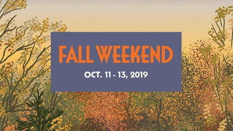 Thumbnail for entry Fall Weekend 2019