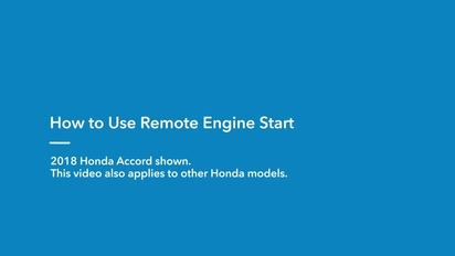 How To Use Remote Start >> 2019 Insight How To Use Remote Engine Start