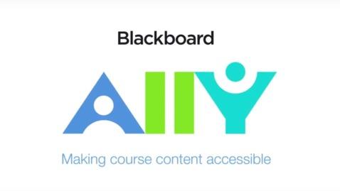 Miniatura para la entrada Mejora la accesibilidad de tu campus virtual con Blackboard Ally
