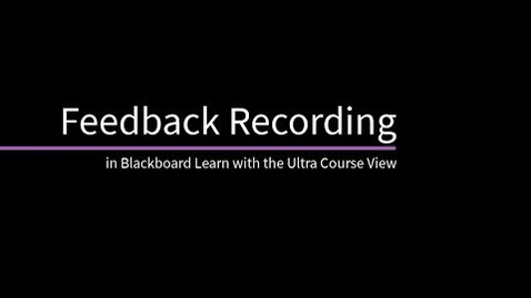 Miniatura para la entrada Blackboard Learn: Feedback con video