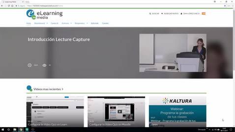 Miniatura para la entrada Monitor de Grabación Lecture Capture