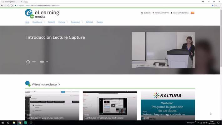 Monitor de Grabación Lecture Capture