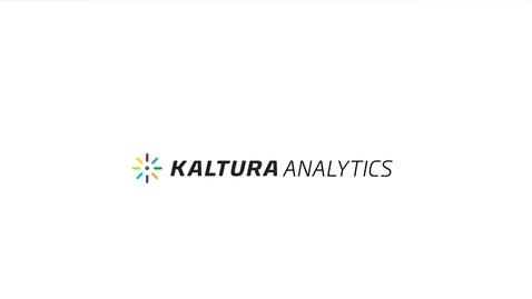 Miniatura para la entrada Kaltura Analytics - Da sentido a tus datos de video