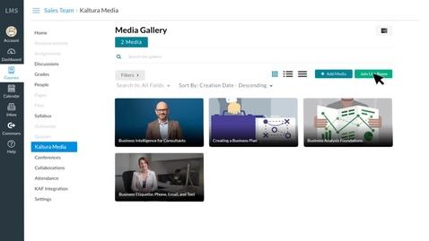 Miniatura para la entrada Kaltura - New Row - Videoconferencia