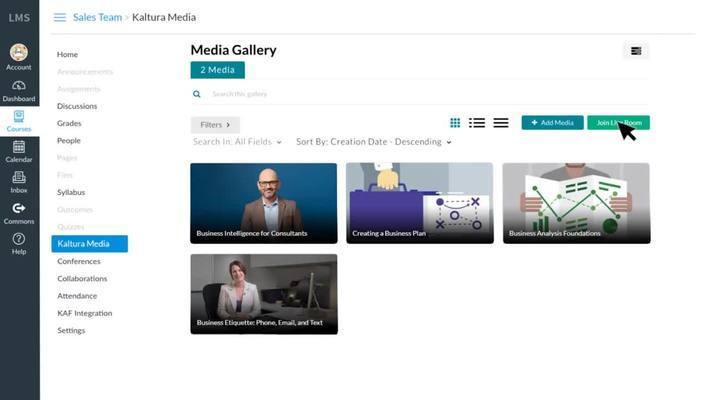 Kaltura - New Row - Videoconferencia