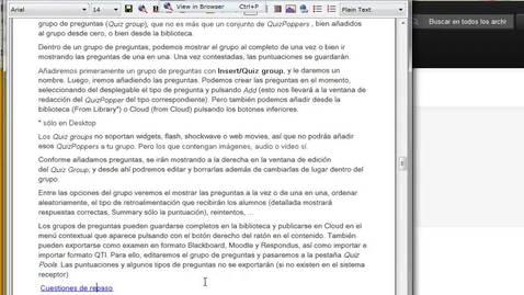 Miniatura para la entrada Softchalk: Exportar examenes y preguntas