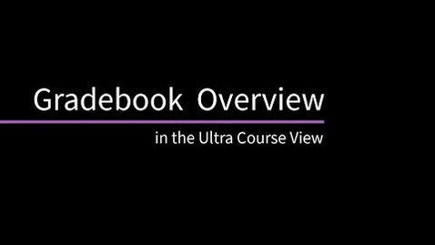 Miniatura para la entrada Blackboard Learn: Centro de calificaciones