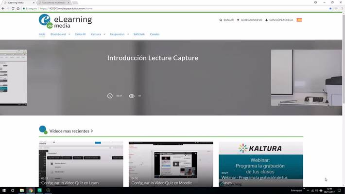 Grabación programada y en remoto con Lecture Capture