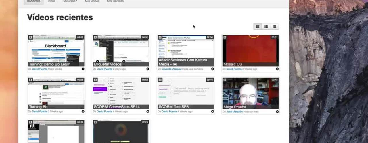 Grabación de pantalla con Kaltura