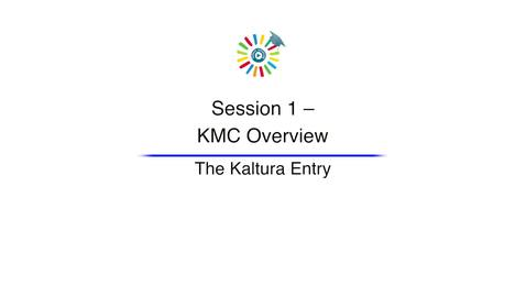 Video 4 The Kaltura Entry