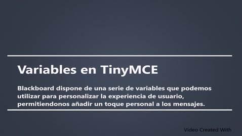 Miniatura para la entrada Variables en TinyMCE