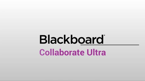 Miniatura para la entrada Tour de la interfaz de Blackboard Collaborate Ultra