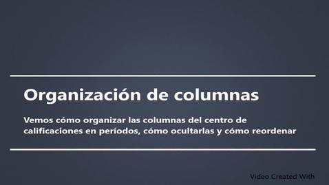 Miniatura para la entrada Organización de columnas