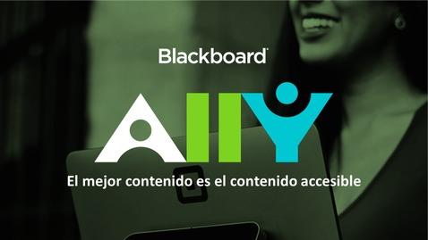 Miniatura para la entrada Blackboard Ally: Haz tu contenido online más accesible
