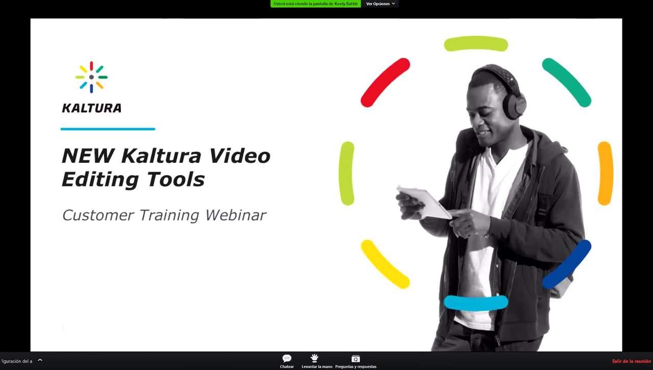 Webinar Kaltura - Nueva herramienta de edición de vídeo (Inglés)