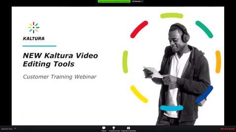 Miniatura para la entrada Webinar Kaltura - Nueva herramienta de edición de vídeo (Inglés)
