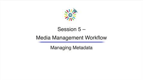 Miniatura para la entrada Video 15 Managing Metadata