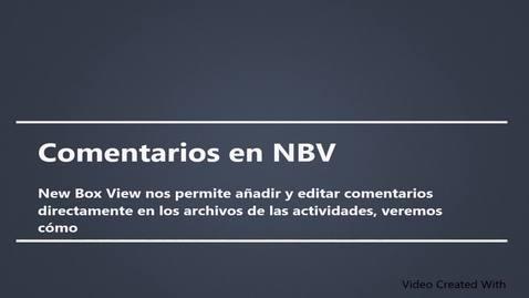 Miniatura para la entrada Comentarios en NBV