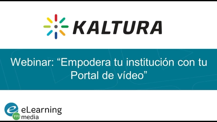 """Webinar - """"Empodera tu institución con tu Portal de vídeo"""""""