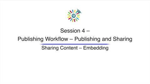 Miniatura para la entrada Video 11 Sharing Content Embedding