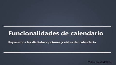 Miniatura para la entrada Funcionalidades de calendario