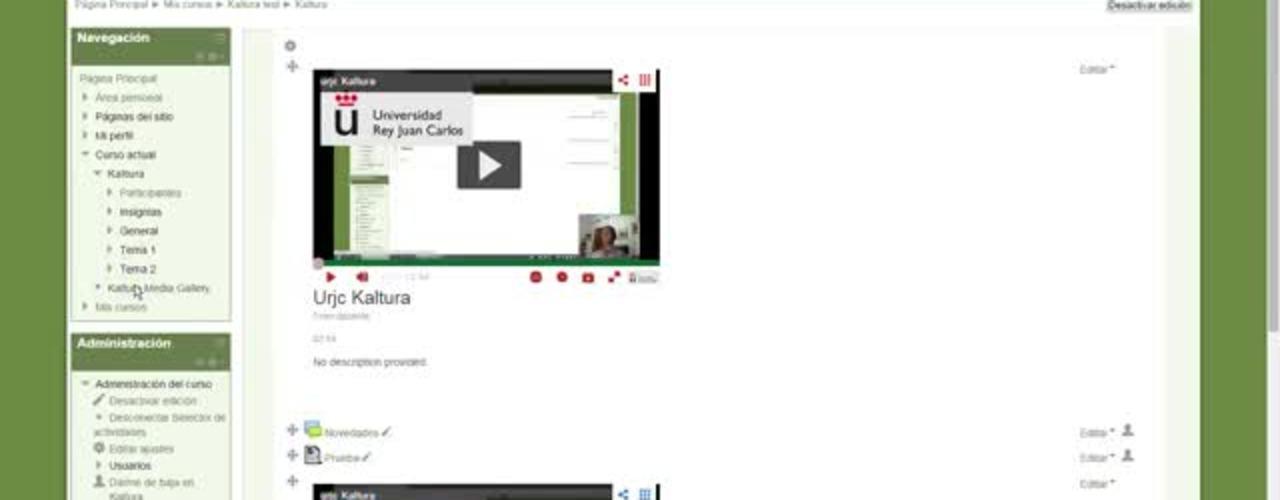 Kaltura y Youtube