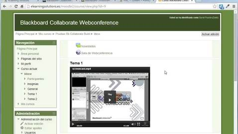Collaborate: Crear una sala en Moodle