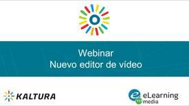 Miniatura para la entrada Webinar - Nuevo editor de vídeo