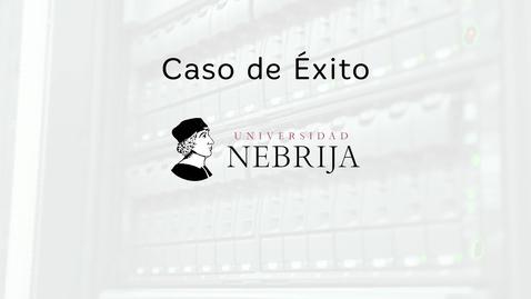 Miniatura para la entrada Caso de éxito Universidad de Nebrija: Blackboard y eLearning Media