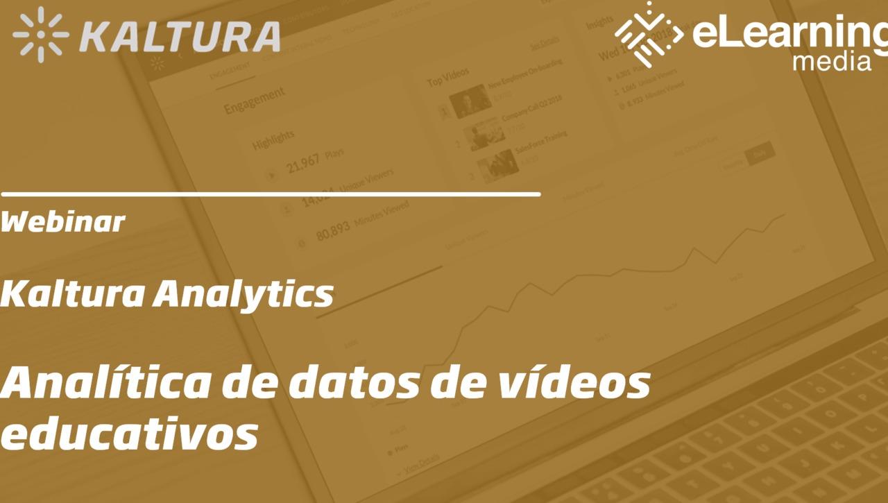 Webinar: Analítica de datos de vídeos educativos