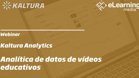 Miniatura para la entrada Webinar: Analítica de datos de vídeos educativos