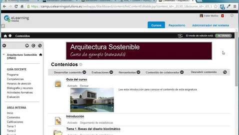 Collaborate: Creando una sesión desde Blackboard Learn