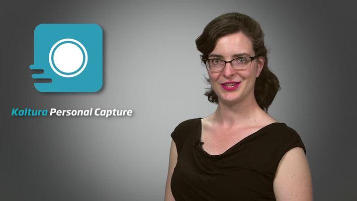 Kaltura Personal Capture: ¡Es tan fácil que mi hijo podría usarlo!