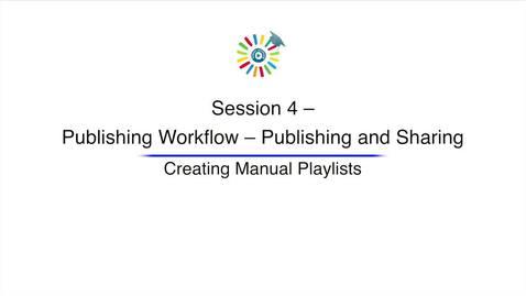Miniatura para la entrada Video 12 Creating Manual Playlists