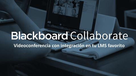 Miniatura para la entrada Videoconferencia para Educación - descubre Blackboard Collaborate Ultra