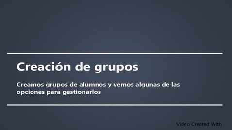 Miniatura para la entrada Gestión de grupos