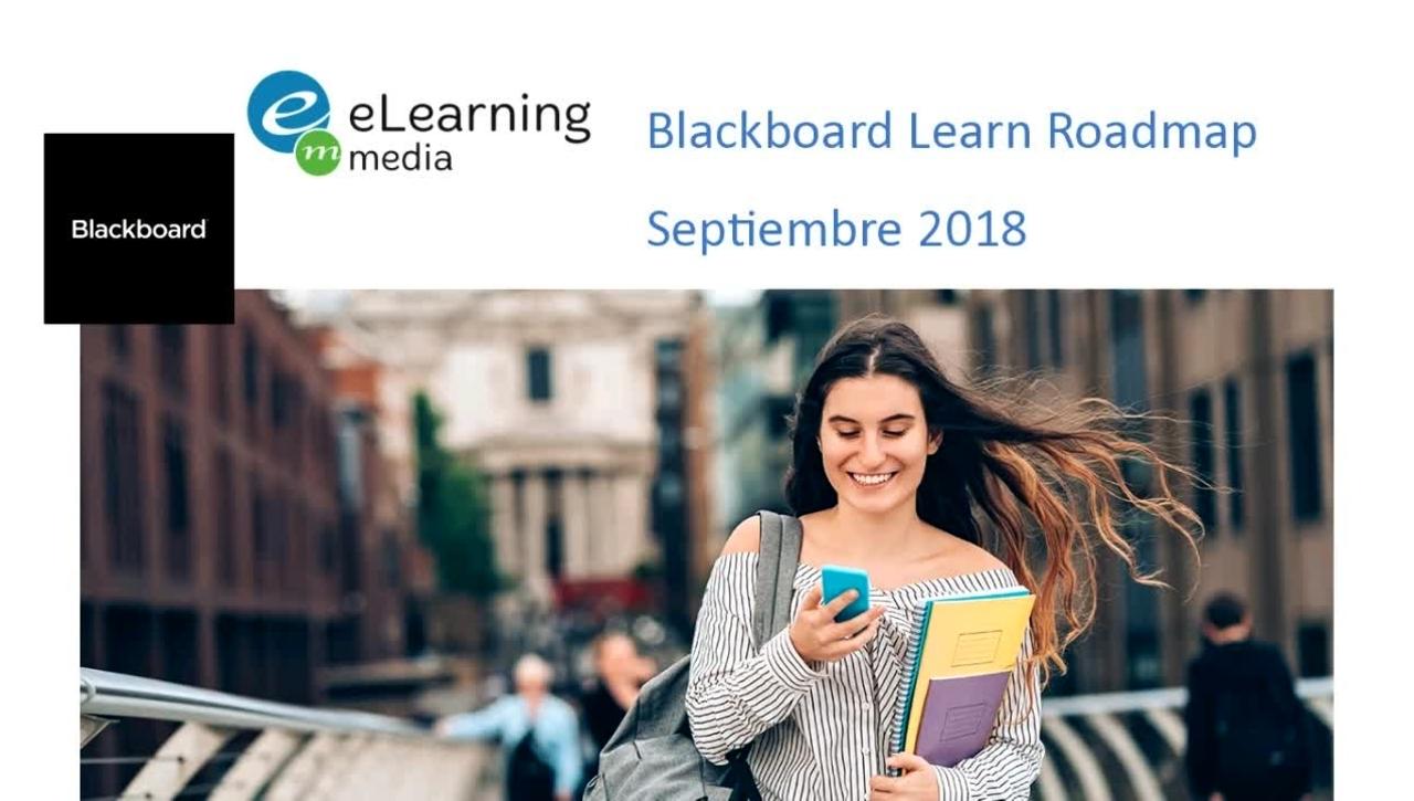 RoadMap Blackboard Learn Septiembre 2018