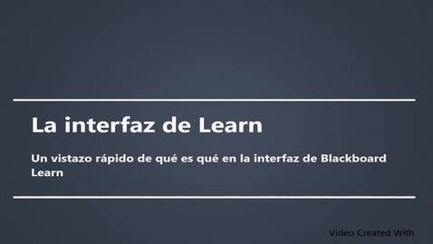 La interfaz de Learn