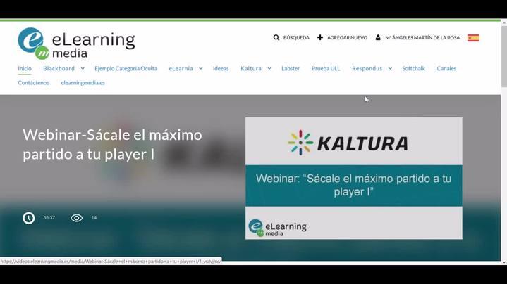 Miniatura del canal Creación de vídeo con herramientas de Kaltura
