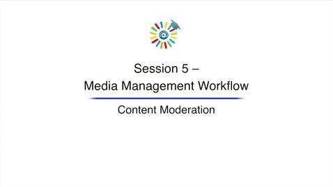 Miniatura para la entrada Video 17 Content Moderation