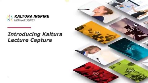 Miniatura para la entrada Introducción a Kaltura Lecture Capture (webinar)