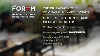 Anxious Students Strain College Mental >> College Students And Mental Health The Forum At Harvard T H Chan