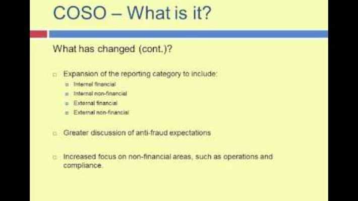 OBE11 - COSO-What is it?
