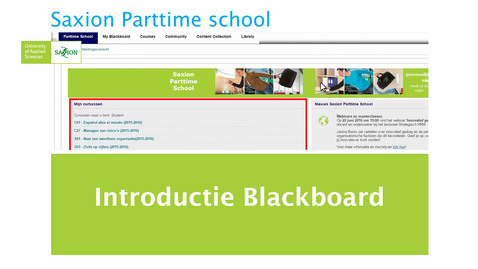 Introductie Blackboard