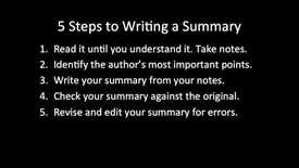 Thumbnail for entry C51 - How to Write an Effective Academic Summary Paragraph