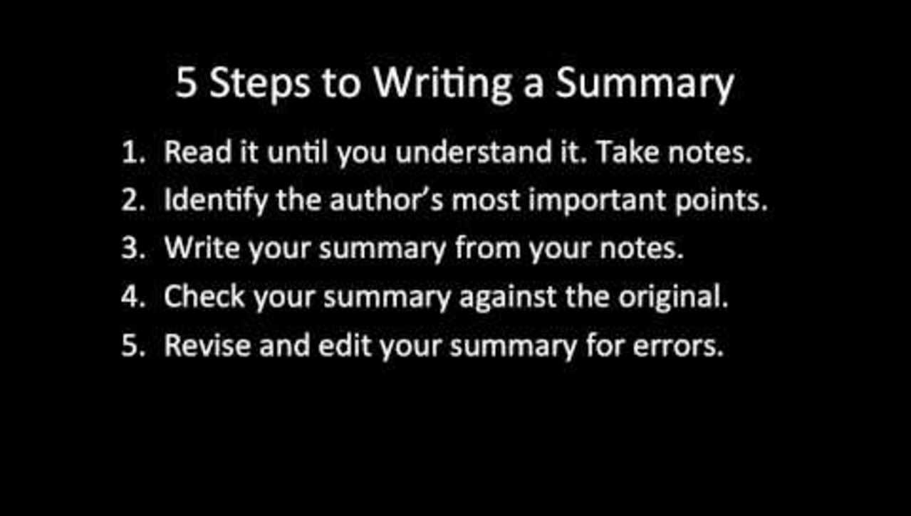 C51 - How to Write an Effective Academic Summary Paragraph