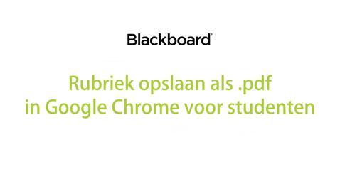 Thumbnail for entry Blackboard - Rubriek opslaan als .pdf voor studenten