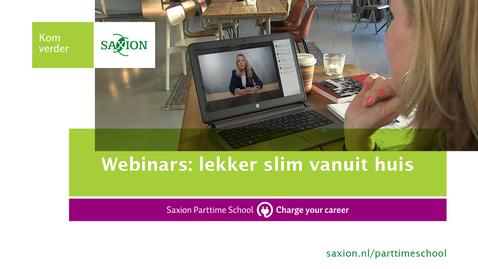 Thumbnail for entry Webinars: lekker slim vanuit huis