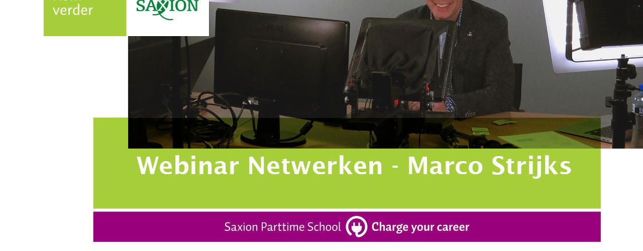 Webinar Netwerken - Marco Strijks