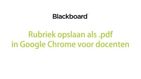 Thumbnail for entry Blackboard - Rubriek opslaan als .pdf voor docenten